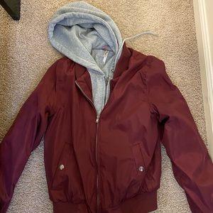 Pink Platinum Womens Hand Stuffed Puffer Jacket